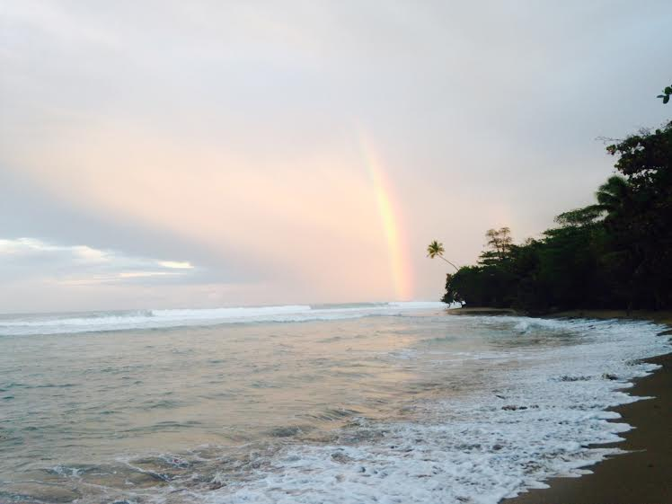 Rainbow blessing the fresh swell